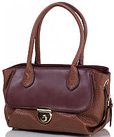 d2409cf5eabe Женская коричневая вместительная сумка из качественного кожзаменителя  ANNA&LI