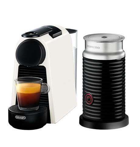 Капсульна кавоварка Nespresso Essenza Mini D30 White + Капучинатор Nespresso Aeroccino 3