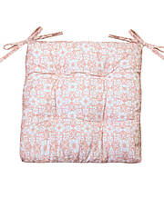 Подушка на стул 40х40см розовый узор