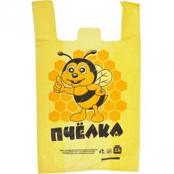 Пакет полиэтиленовый майка «Пчелка»   П/п