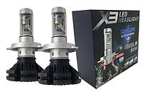Лампы для фар(ксенон) светодиодные LED X3 H4 ближний/дальний свет