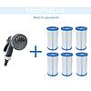Сменный картридж для фильтр насоса Intex 29005 тип «B» 2 шт, 14.5 х 25 см, фото 4