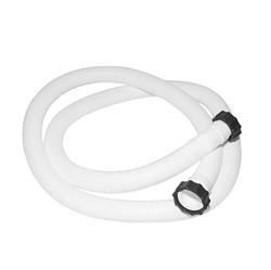 Гофрированный шланг с гайками для бассейна Intex 11010 под плунжерные краны к песочному насосу. Длина 3 м, диаметр 38 мм, резьба 50 мм