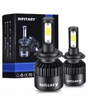 LED лампы ЛЕД светодиодные лампы головного света КСЕНОН H4 H7 Н1 Infitary