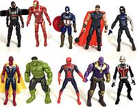 Набор фигурок Мстители Война бесконечности (Халк  Танос  Капитан Америка  Человек Паук  Железный Человек  Тор), фото 1