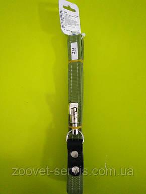 Поводок КОЛЛАР БРЕЗЕНТ со светоотражающей нитью д. 200 см ш. 25 мм 0504, фото 2