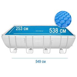 Солярный тент для бассейна Intex 29026 с эффектом антиохлаждение 549 х 274 см