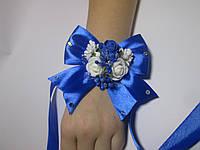 Бутоньєрка на руку, синій