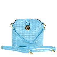 Лакированная женская яркая сумочка голубого цвета TRAUM