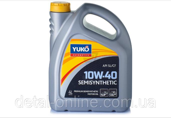 Масло моторное полусинтетическое SEMISYNTHETIC 10W-40 (API SL/CF) YUKO (4л), фото 2