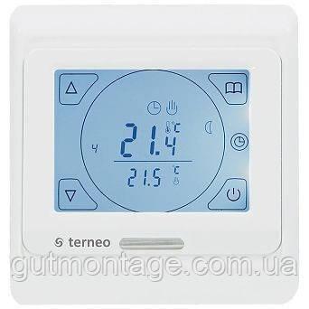 Терморегулятор для теплого пола Terneo-S. Сенсорный терморегулятор. Белая панель
