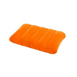 Надувная флокированная подушка Intex 68676, оранжевая