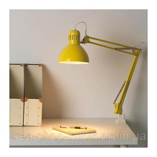 IKEA ТЕРЦИАЛ Лампа рабочая, желтый. Витринный вариант!