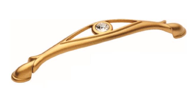Ручка DG TASLI YAGMUR 5489-04 128mm Матовое Золото с камнями