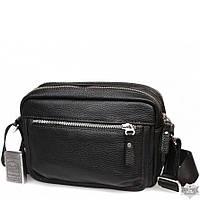 8355b4283723 Мужская горизонтальная сумка через плечо из натуральной высококачественной кожи  ALVI