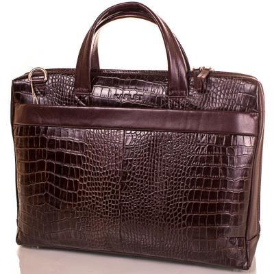 d4ce37e8a165 Кожаный коричневый мужской портфель с отделением для ноутбука KARLET -  Arion-store - кожгалантерея и