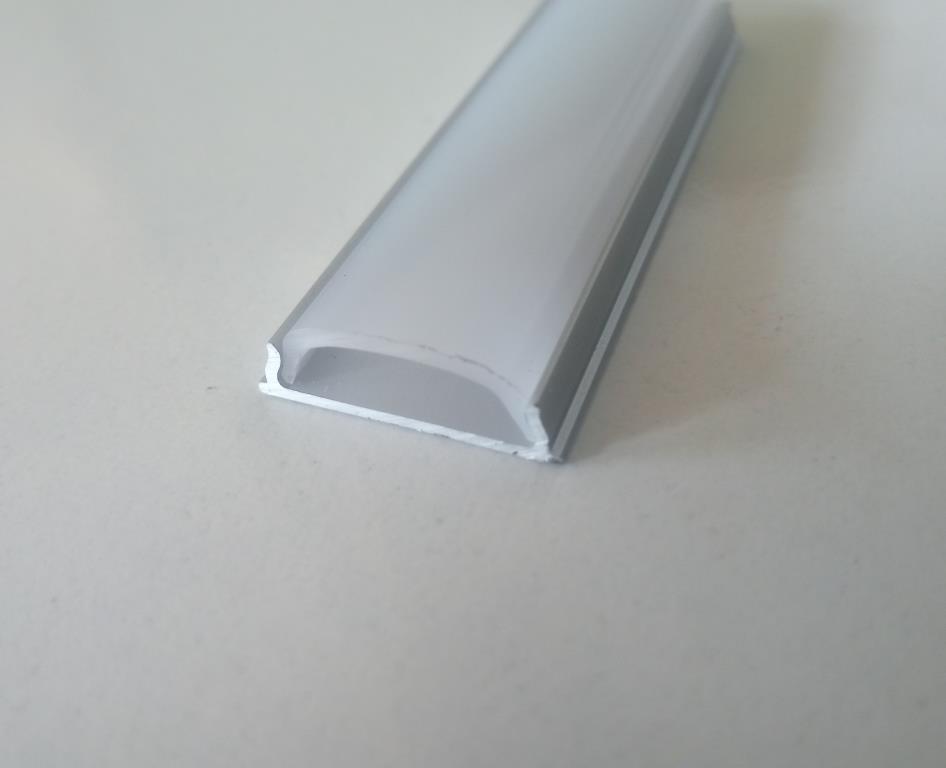 Гнучкий накладний алюмінієвий профіль разом з розсіювачем 2 м для LED стрічки АЛ-14, фото 3