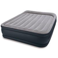Надувная кровать Intex 64136 (67738), 152 х 203 х 42 см, встроенный электронасос. Двухспальная