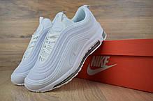 Женские демисезонные кроссовки Nike Air Max 97 белые полностью топ реплика, фото 2