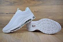 Женские демисезонные кроссовки Nike Air Max 97 белые полностью топ реплика, фото 3