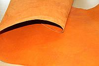 Натуральная кожа КРС, краст ременной гладкий толщина 3,8-4,0 мм (цвет ярко-желтый)