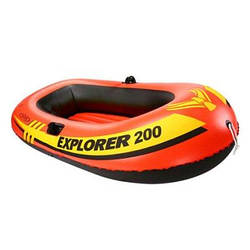 Полутораместная надувная лодка Intex 58331 Explorer 200 Set, 185 х 94 х 41 см