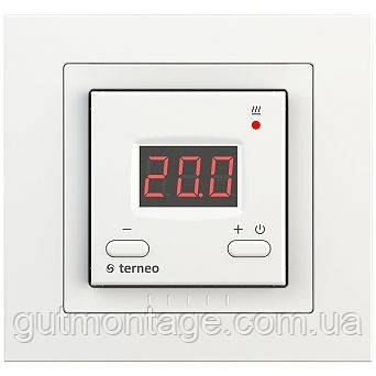Регулятор для теплых полов Terneo-ST/unic. Обычные кнопки.  Красые цыфры