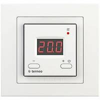 Регулятор для теплых полов Terneo-ST/unic. Обычные кнопки.  Красые цыфры , фото 1