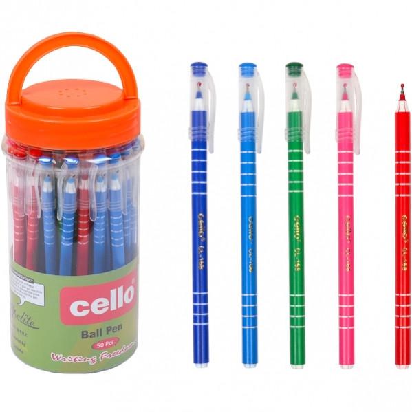 Ручка масляная Cello  синяя 1 упаковка (50 штук)                  CL-168