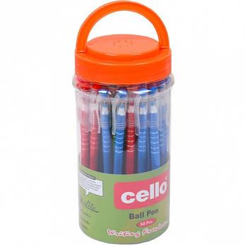Ручка масляная Cello  синяя 1 упаковка (50 штук)                  CL-168, фото 2