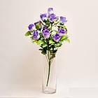 Букет роз NY 122 /12 (14 шт./ уп.) Искусственные цветы оптом, фото 2