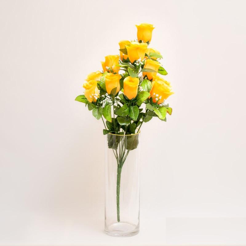 Букет роз NY 122 /12 (14 шт./ уп.) Искусственные цветы оптом