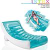 Надувное пляжное кресло-шезлонг Intex 58856, голубое, 188 х 99 см, фото 2