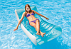 Надувное пляжное кресло-шезлонг Intex 58856, голубое, 188 х 99 см, фото 10