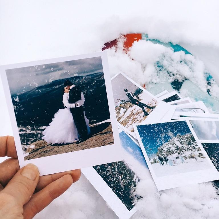 Фото магниты в стиле  Polaroid 4шт