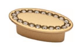 Ручка DG TASLI SELVI DUGME 6093-04  32мм Матовое Золото с камнями
