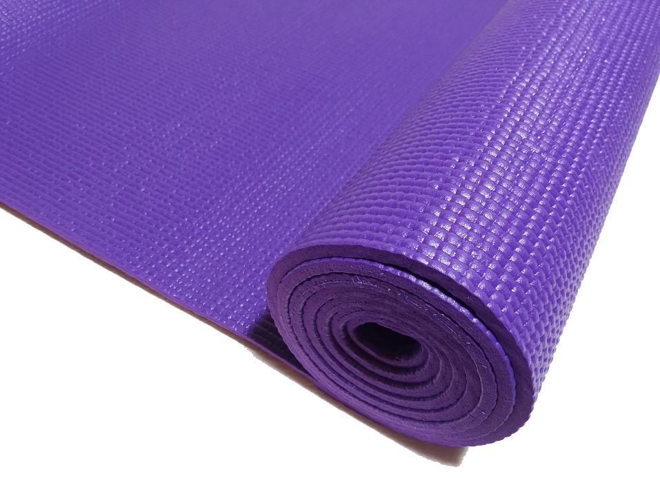 Профессиональный коврик для йоги, фитнеса и аэробики 1730×610×5мм, PVC, HS, однослойный