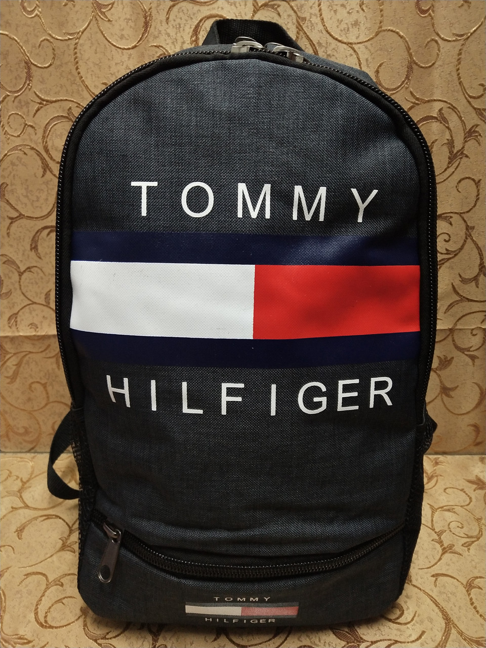 (44*30-большое)Рюкзак спортивный tommy Томми Хорошее качество мессенджер 600d городской опт