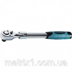 Ключ телескопічний трещоточный 1/2, 305-445 мм, CrV, хромована, двокомпонентна рукоятка. GROSS