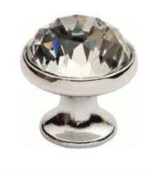 Ручка DG TASLI YAKUT DUGME 6098-012 Матовая Черная с камнями