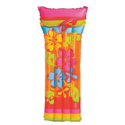 Пляжный надувной матрас Intex 58715 «Цветок», с подголовником, 186 х 76 см