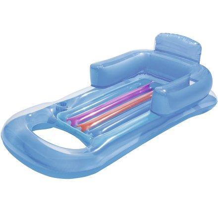 Надувное пляжное кресло-шезлонг Bestway 43028, голубой (157 х 89 см)