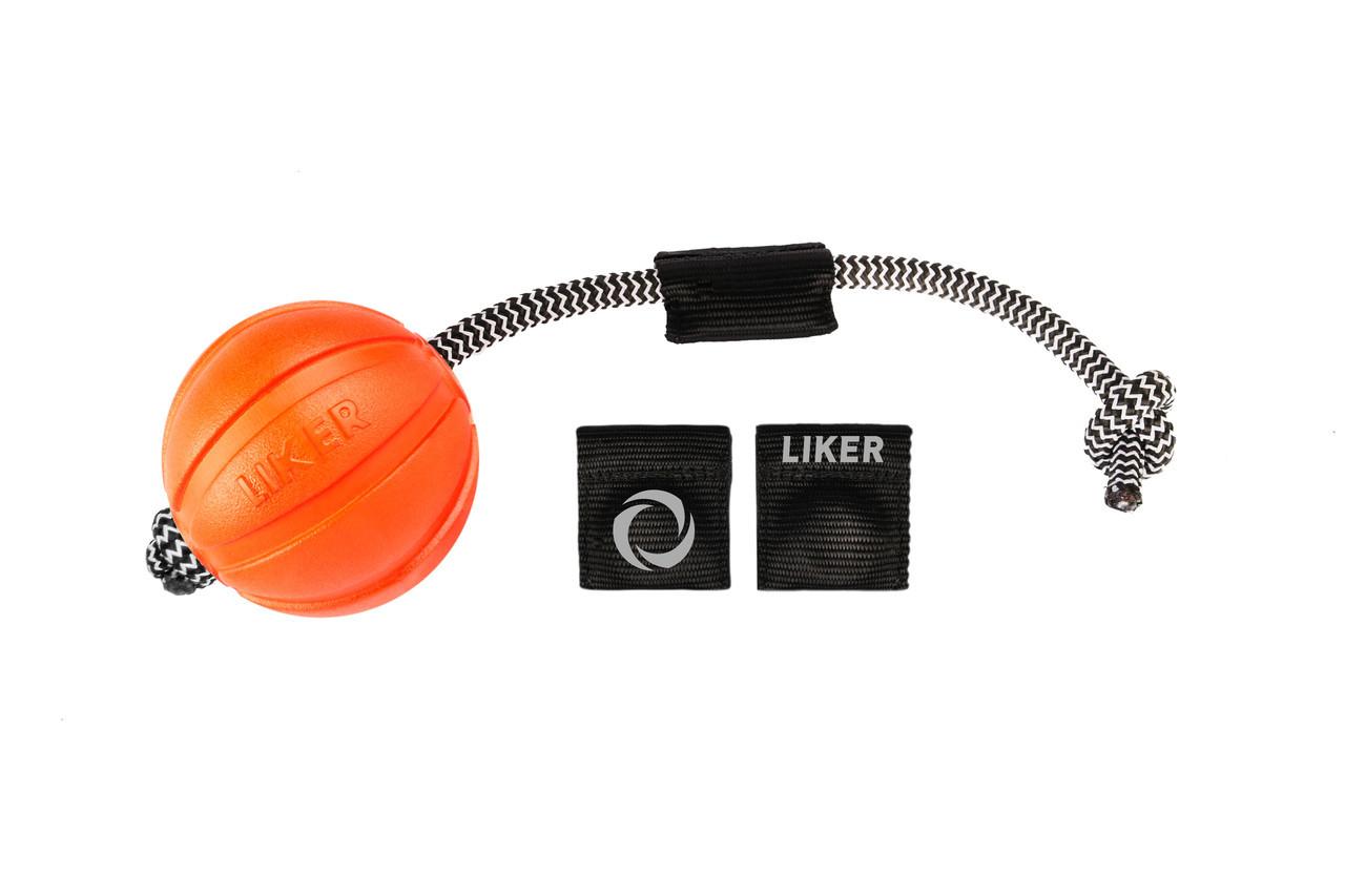 Іграшка Liker Magnet Лайкер Магніт для собак м'яч 9 см, довжина шнура 30см з комплектом магнітів