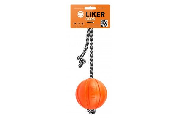 Іграшка Liker Cord Лайкер Корд для собак м'яч 9 см, довжина шнура 30см