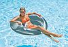 Надувное кресло-круг для плавания Intex 58883, серое, 119 см, с держателями для рук, фото 7