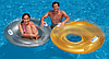 Надувное кресло-круг для плавания Intex 58883, серое, 119 см, с держателями для рук, фото 8
