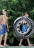 Надувной круг для плавания Intex 59252 «Шина», «Покрышка», 91 см, фото 10