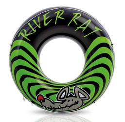 Надувной круг для плавания Intex 68209, черно-зеленый, 122 см