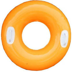 Надувной круг для плавания Intex 59258, 76 см, оранжевый, с держателями для рук