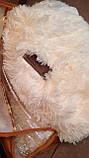 Плед покривало хутряне Травичка Ведмедик Страус Пухнастик Пряжене молоко, фото 2